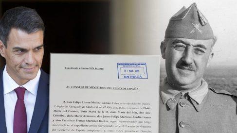 Pedro Sánchez y Francisco Franco