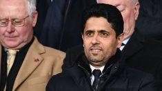 Nasser Al-Khelaifi durante el PSG-Manchester United de Champions (AFP).