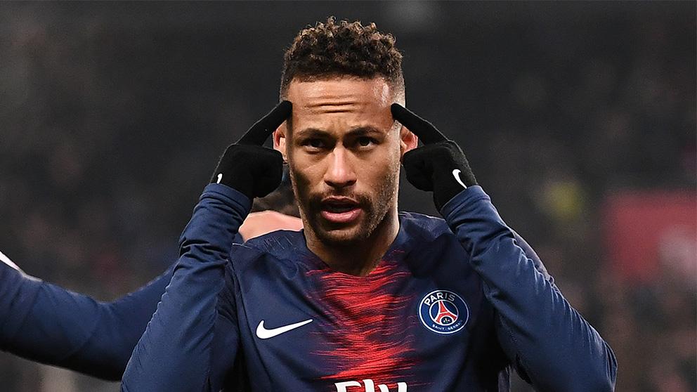 Neymar, en un partido con el PSG.
