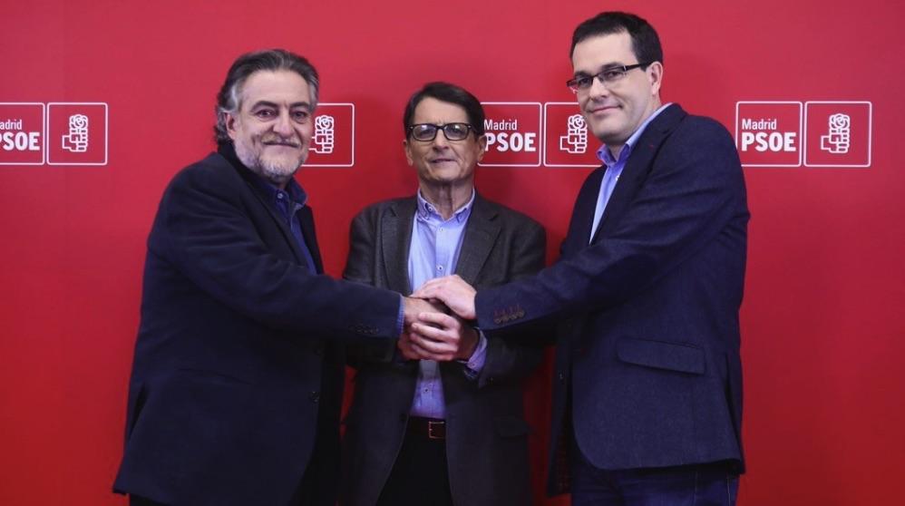 Pepu Hernández, Manuel de la Rocha y Chema Dávila, en el debate. (Foto. PSOE)