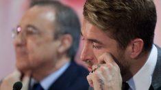Sergio Ramos y Florentino Pérez. (Getty)