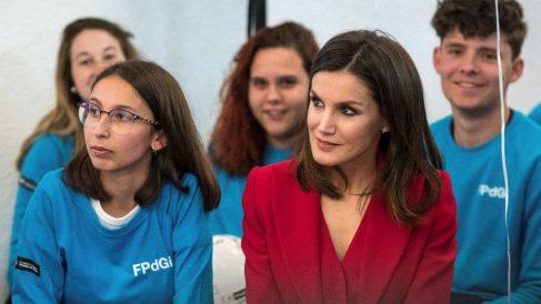 La reina Letizia durante el acto de proclamación del Premio Social de la Fundación Princesa de Girona