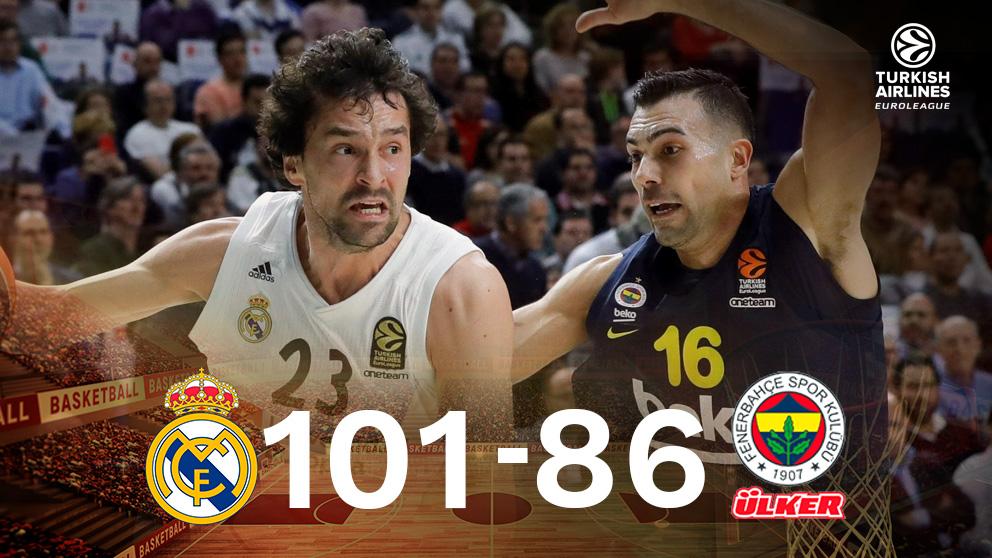 El Real Madrid venció al Fenerbahce en Euroliga.