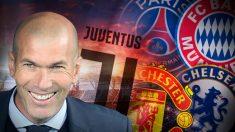 Los cinco equipos que pretenden a Zidane.