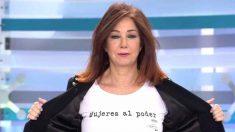 Ana Rosa apoya la huelga feminista del 8 marzo