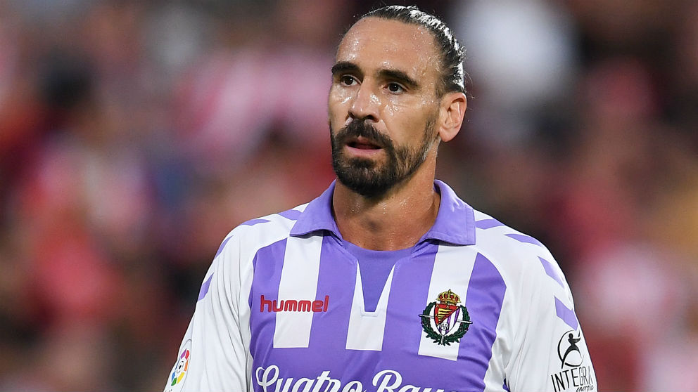 Borja Fernández, durante un partido del Valladolid. (Getty)