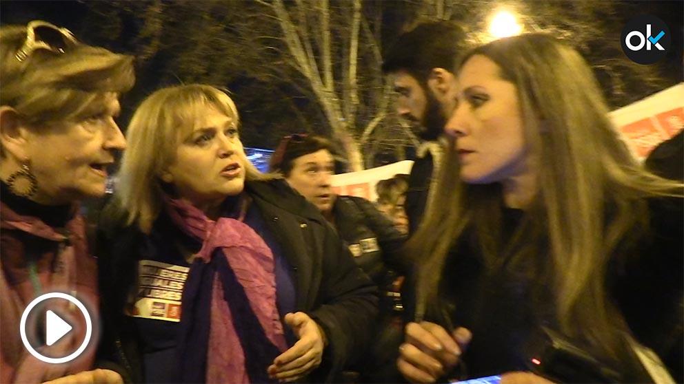 Okdiario en la manifestación del 8M.