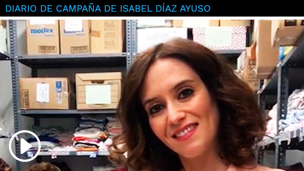 La candidata del PP a la Presidencia de la Comunidad, Isabel Díaz Ayuso, ha visitado este viernes, Día Internacional de la Mujer, la fundación Red Madre. (Fuente: OKDIARIO)