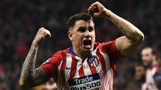 José María Giménez celebra un gol (AFP)