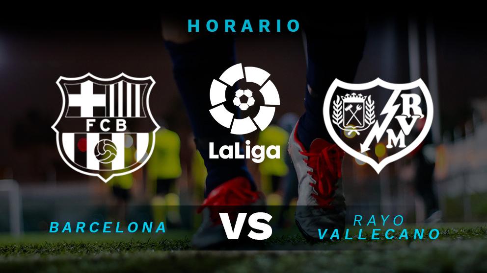 Liga Santander: Barcelona – Rayo Vallecano | Horario del partido de fútbol de la Liga Santander.