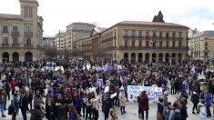 Huelga feminista en Pamplona. Foto: Europa Press