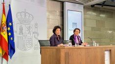 Celaá y Valerio, este viernes tras el Consejo de Ministros. Foto: Joan Guirado