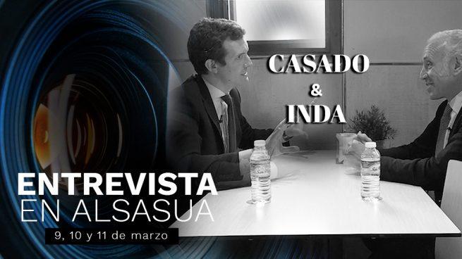 La entrevista de Inda a Casado en Alsasua se publicará el 9, 10 y 11 de marzo en OKDIARIO