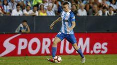 Jack Harper durante un partido con el Málaga (Malagacf.com)