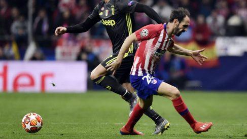Juanfran Torres durante el partido ante la Juventus (AFP)