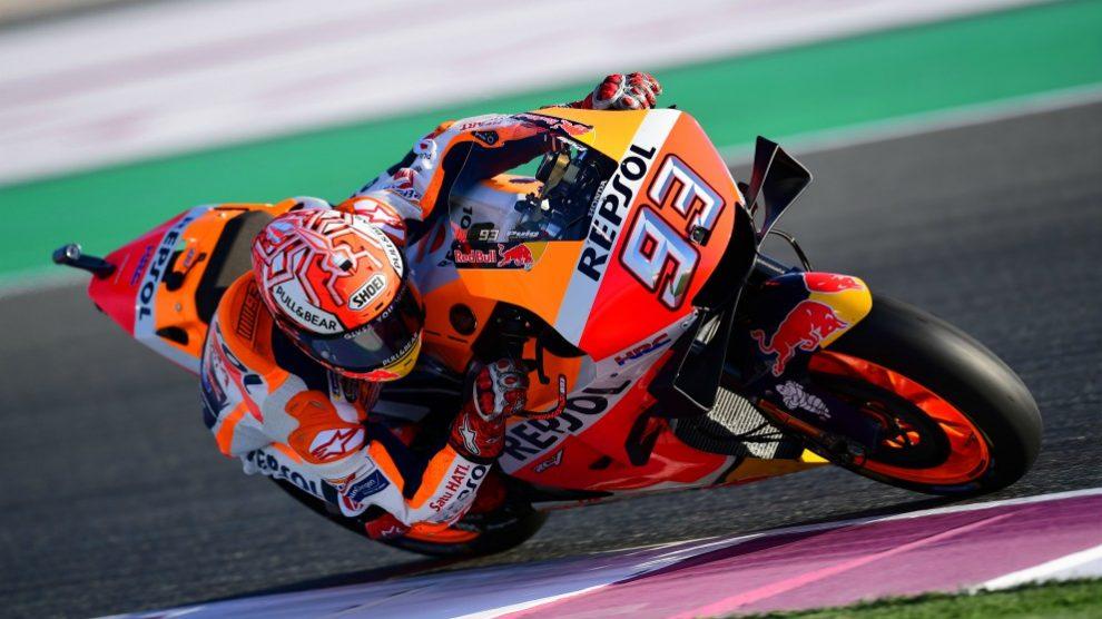 Márquez, durante una carrera.