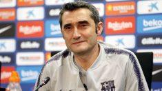 Valverde, en una rueda de prensa. (fcbarcelona)
