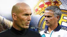 Zinedine Zidane y José Mourinho.