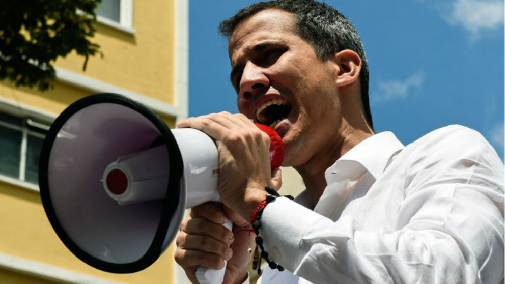 Juan Guaidó en Caracas. (Foto: AFP)