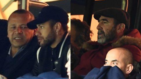 el padre de Neymar y Eric Cantona estuvieron a punto de llegar a las manos tras el PSG – Manchester United.