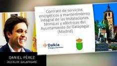 Daniel Pérez, junto al informe elaborado por la firma Dalkia.