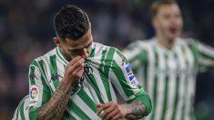 Sergio León celebra un gol con el Betis (@RealBetis)