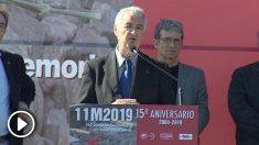 Acto de los sindicatos en recuerdo del 11-M en la estación de Atocha. (Foto. EFE)