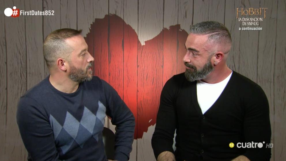 David y Alberto han congeniado muy bien en 'First Dates'