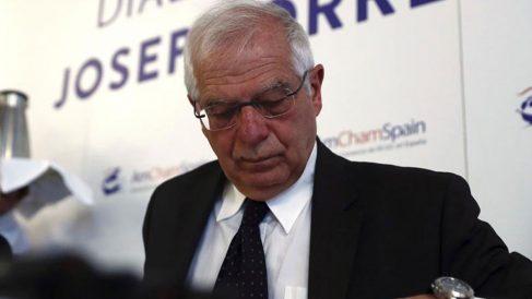El ministro de Asuntos Exteriores, Josep Borrell, participa en un diálogo sobre la Competitividad, Productividad e Internacionalización de la Economía Española, organizado por AmChamSpain en Madrid. Foto: Europa Press