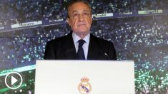 Florentino, durante su comparecencia ante los medios. (EFE)