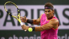Rafa Nadal, en su debut en Indian Wells 2019. (AFP)