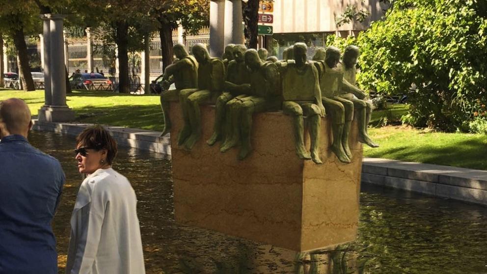 Recreación de como quedará el monumento a los refugiados de Carmena.