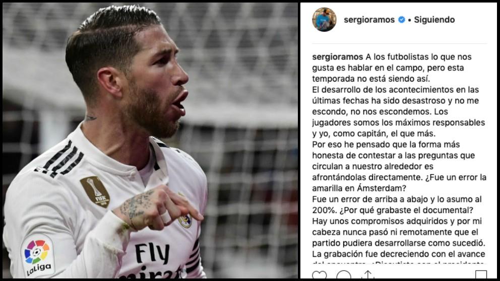 Sergio Ramos se ha autoentrevistado en Instagram.