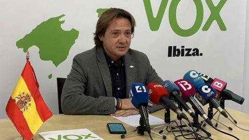el presidente de Vox Baleares, Jorge Campos