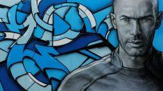 Zidane, en un graffiti en las calles de París.