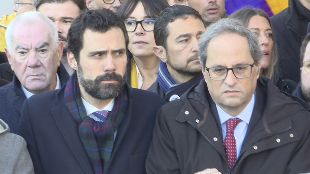 Torra y Torrent en una manifestación en Madrid.