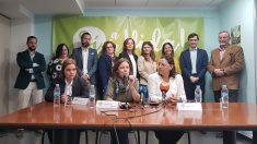 Representantes de asociaciones provida en la presentación de la manifestació contra el aborto convocada el 24 de marzo en Madrid.