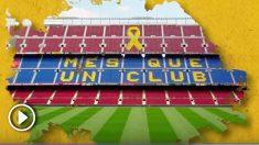Un grupo de socios del Barça piden poner un lazo amarillo en el Camp Nou