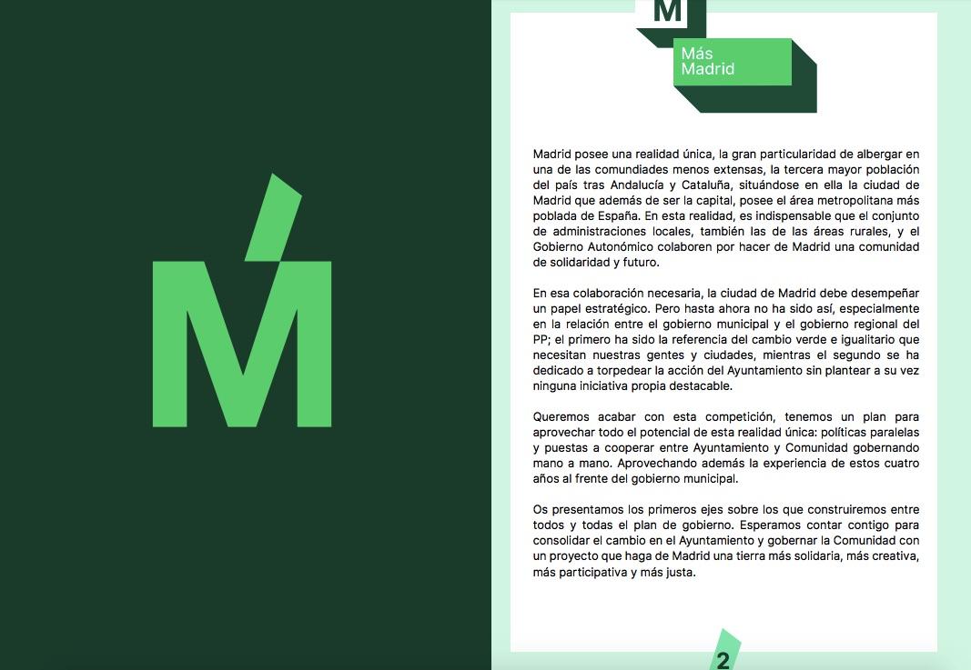 Consulta el programa íntegro de Más Madrid.