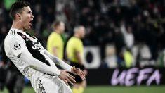 Cristiano emuló el gesto que hizo Simeone en el partido de ida. (AFP)