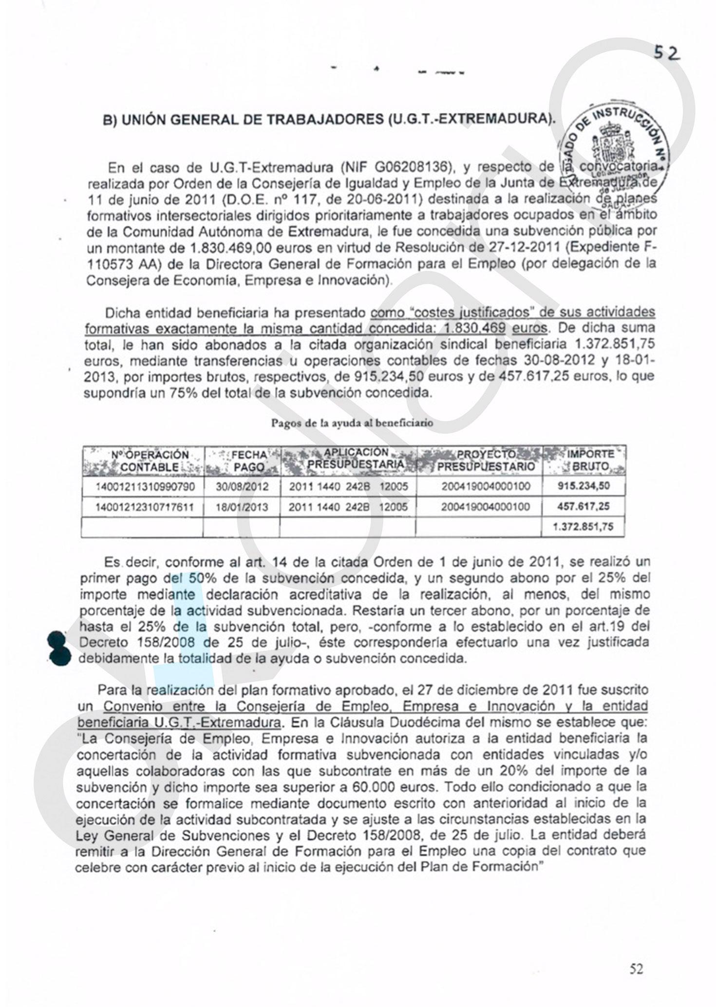 Una red societaria de UGT a nivel nacional se nutría del fraude de 30 millones de los fondos de formación