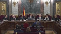 La sala del Tribunal Supremo donde se juzga el procés y el referéndum ilegal del 1-O en Cataluña. Foto: EFE