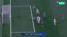 Oblak sacó desde dentro de la portería el segundo gol de Cristiano Ronaldo.