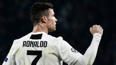 Cristiano Ronaldo frente al Atlético de Madrid (AFP)