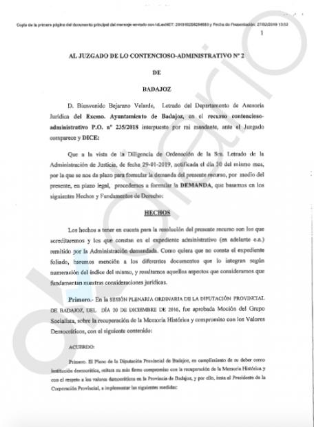 El PSOE extremeño deja sin ayudas públicas a los pueblos con nombres franquistas