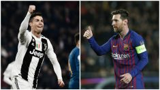 Cristiano y Messi vuelven a estar en cuartos de final de la Champions League. (AFP)