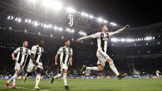 Cristiano Ronaldo celebra el 3-0 ante el Atlético. (Getty)