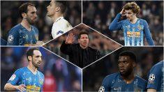 Los señalados de la eliminación del Atlético de Madrid.