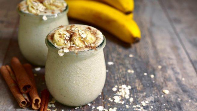 mousse helada de plátano