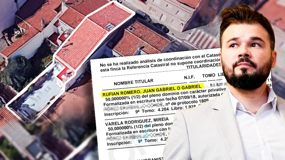 La escritura de la nueva casa de Juan Gabriel Rufián (ERC) dice que también es «conocido como Gabriel». (Fuente: OKDIARIO)